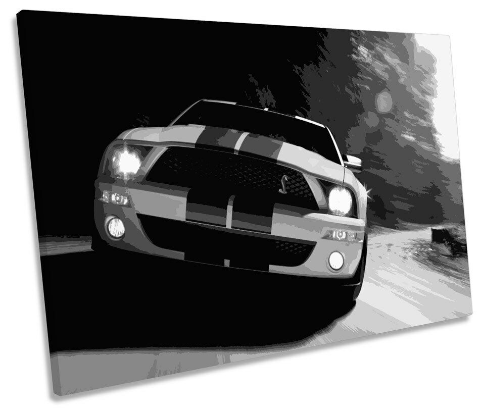 Ford Mustang Car SINGLE CANVAS WALL ART Picture Print