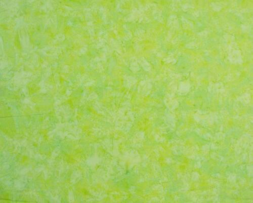 Quilting Patchwork Sewing Batik Fabric SLICE OF LIME Cotton 50x55cm FQ NEW