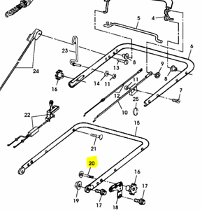 Véritable John Deere Tondeuse à Poignée Knob Bolt 03H1515 JX75 JS60 JS61 JS63