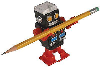 retro robot pencil sharpener wind up toy by Kikkerland novelty gifts