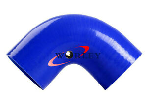 Blue-76mm-3-034-90-degree-Silicone-Elbow-hose-INTAKE-TURBO-INTERCOOLER-Coulper-pipe