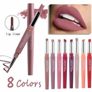 Waterproof-Pencil-Lipstick-Pen-Matte-Lip-Liner-Long-Lasting-Makeup-Multifunct