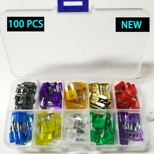 100Pcs-Box-Case-Assorted-Auto-Car-Boat-Truck-Standard-Blade-Fuse-Kit