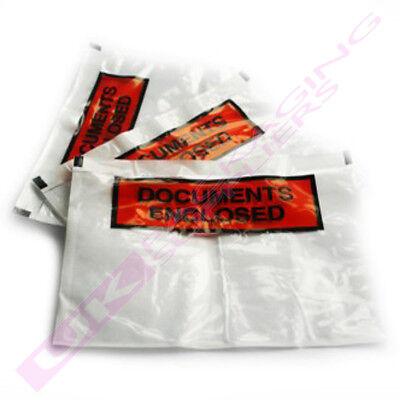 5000x A6 PLAIN Documents Enclosed Plastic Postage Bags Labels