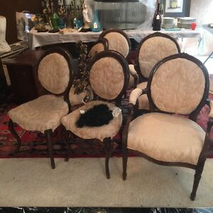 Image Is Loading Set Of Six 6 French Provincial Dining Chairs