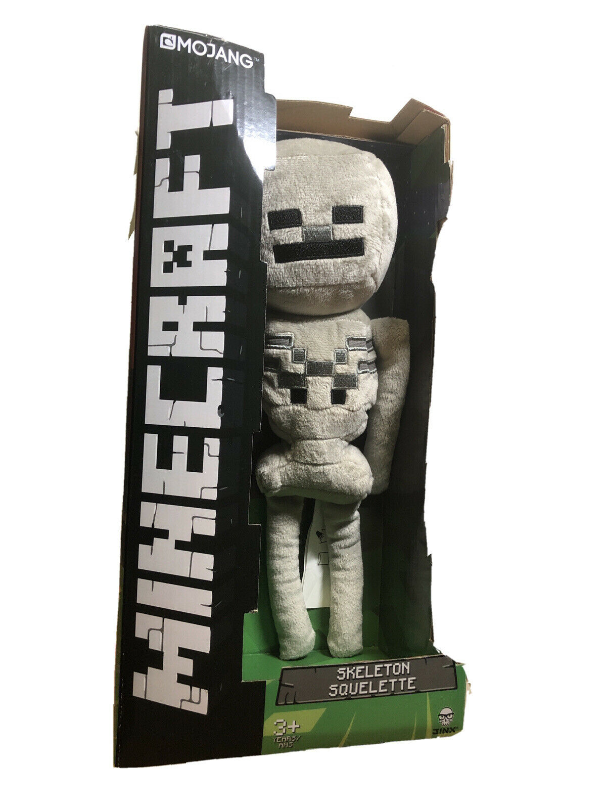 "OFFICIAL MINECRAFT SKELETON 12/"" LARGE SOFT PLUSH TOY BRAND NEW!"