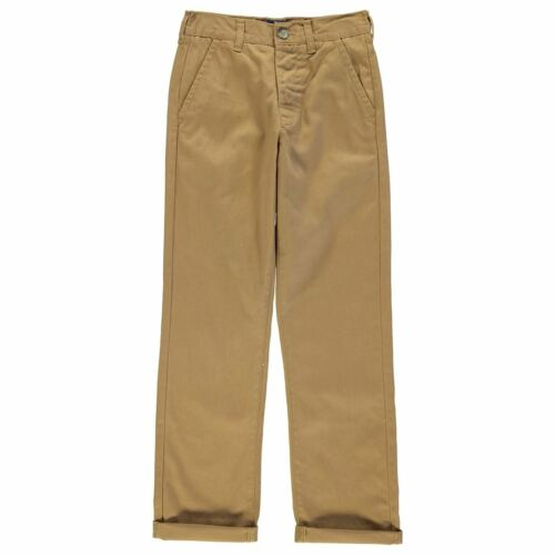 Kangol Kids Children Juniors Chino Khaki Casual Everyday Trousers Jeans Pants