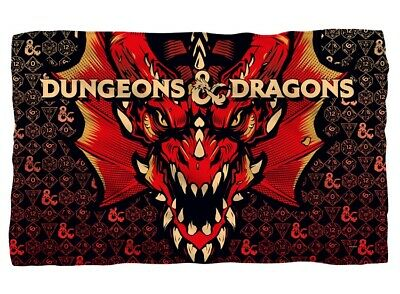New Dungeons and Dragons Plush Fleece Gift Throw Blanket Board Game Red Dragon