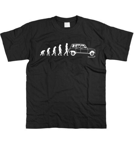 Motorholics Homme Evolution of Man pour RENAULT 4 Classique Français T-Shirt S 5XL