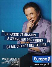 PUBLICITE ADVERTISING 015  2012  EUROPE 1 radio  DRUCKER  à s'envoyer des piques