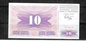 BOSNIA-10a-VF-USED-10-DINARA-1992-OLD-BANKNOTE-BILL-NOTE-CURRENCY-PAPER-MONEY