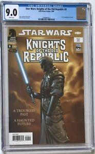Star Wars Knights of the Old Republic #9 CGC 9.0 1st App. of Darth Revan