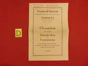 Schlosser Fachgroßhandlung Für Gas-u Wasserwerksbedarf Druckrohre Und Formstücke 1957 Das Ganze System StäRken Und StäRken Antiquitäten & Kunst