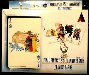 FINAL-FANTASY-25th-ANNIVERSARY-PLAYING-CARDS-2012-SQUARE-ENIX-very-minor-damage