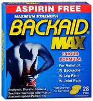 Backaid Pills 28 Tablets (pack Of 9) on sale