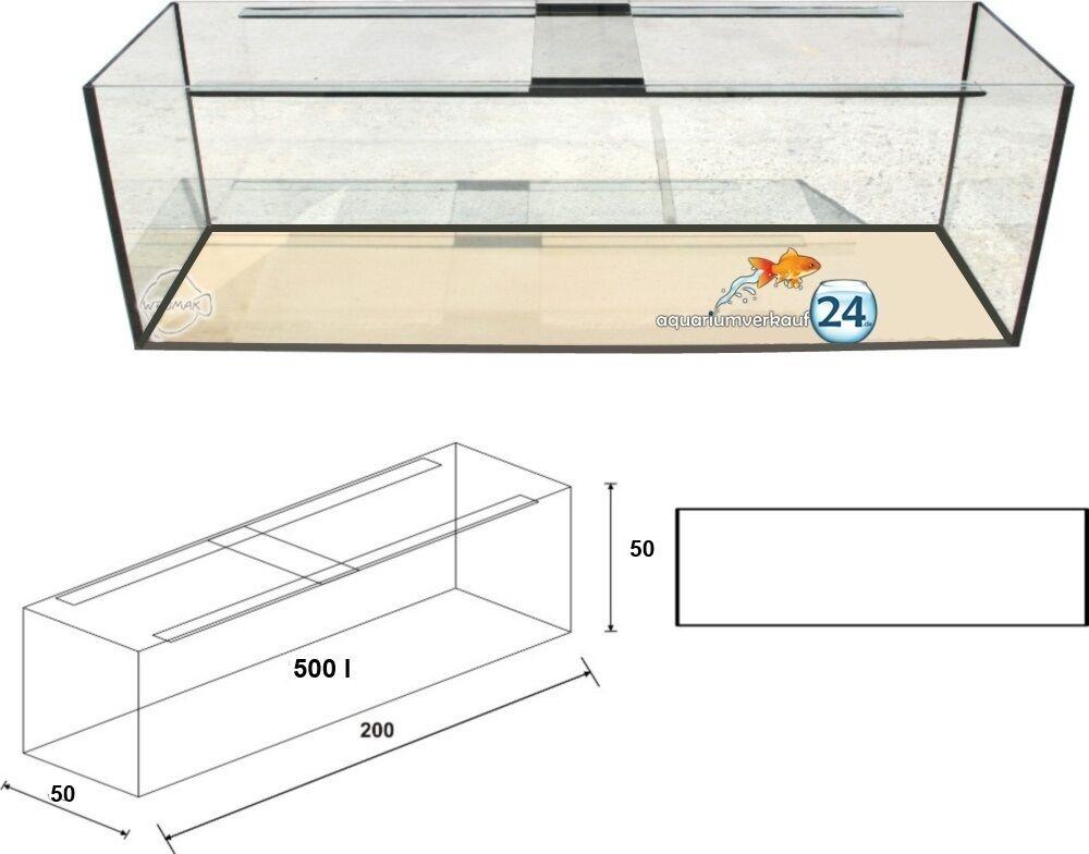 Aquarium 200x50x50cm GS 10mm,  Eigener Lieferservice.