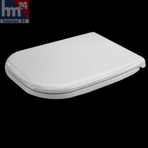 bisagras de acero fino 0067310000 Duravit d-Code WC-sede en blanco incl