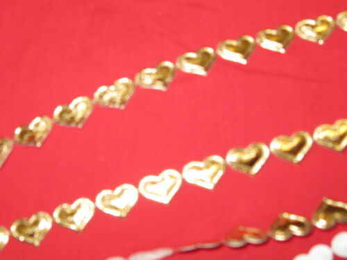 Gold Metallic Silver Flowers  Hearts Stars Ric Rac Fringe  By The Metre