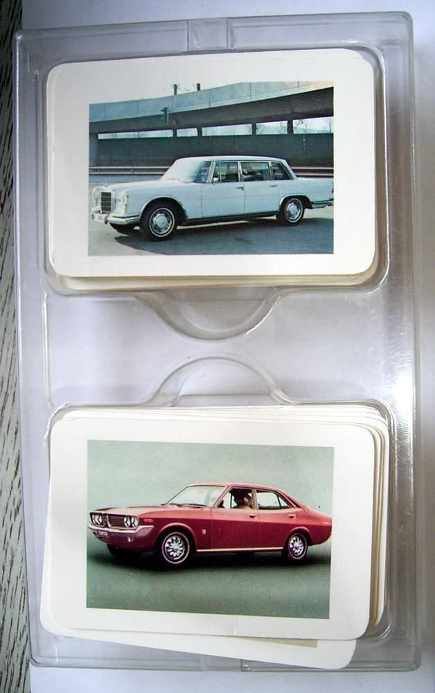 Jeu de cartes QUARTET-internationale voitures des années 70'er - 118 Cartes