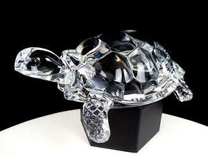 ELEGANT-PRESSED-GLASS-CLEAR-TORTOISE-TURTLE-7-1-4-034-FIGURINE