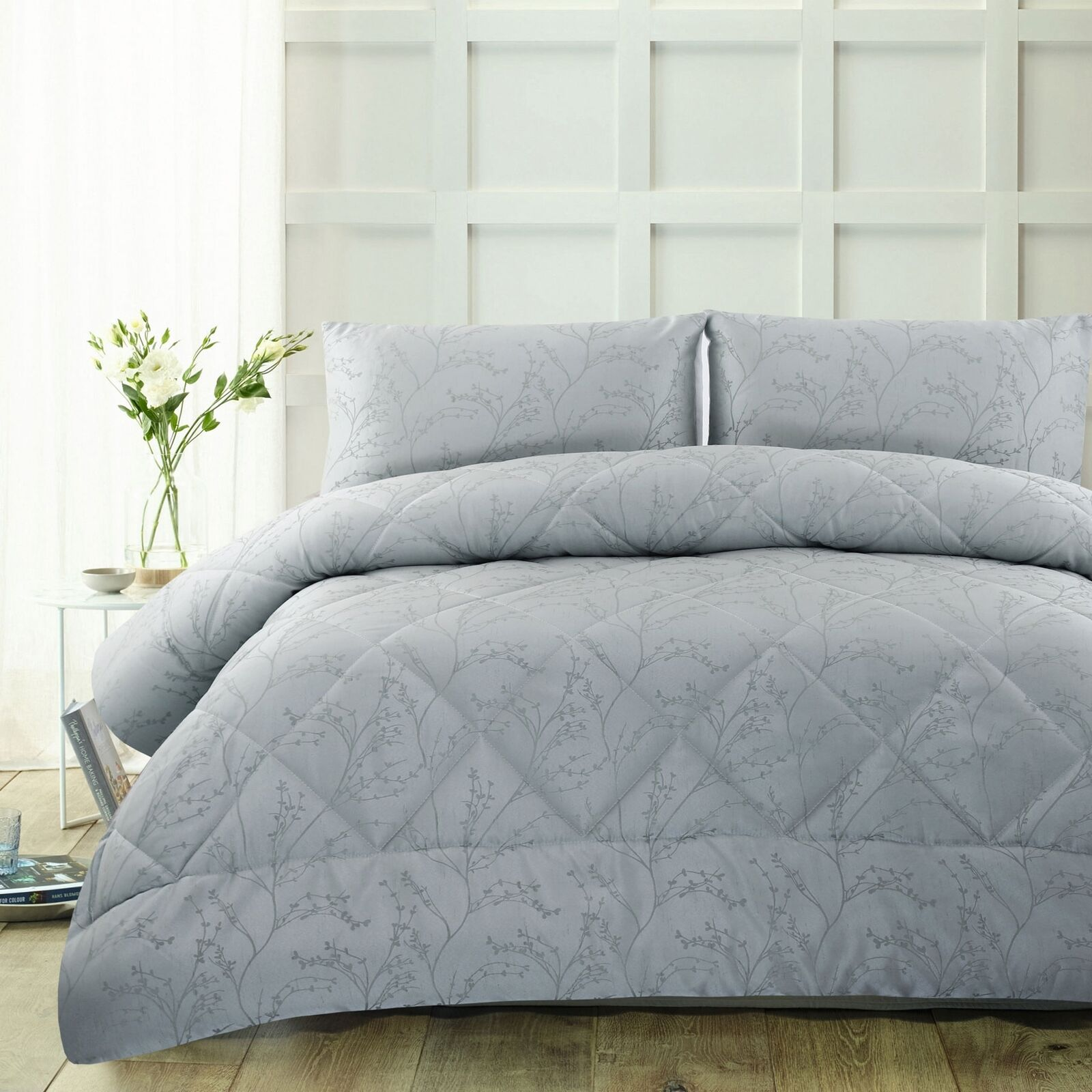 3 Piece 300TC Pippa Light Light Light Blau Jacquard Comforter Set - QUEEN KING 08bdde