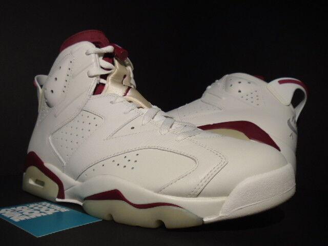 Nike air jordan jordan jordan vi 6 retro bianco rosso bordeaux infrarossi 384664-116 nuovi 0d031f