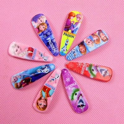 12pcs frozen Anna and Elsa girls hair resin clips mixed designs Hair Accessories