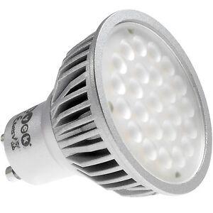 ab 4 st ck gu10 led 4 5w spot dimmbar leuchtmittel lampe 230v silber ebay. Black Bedroom Furniture Sets. Home Design Ideas