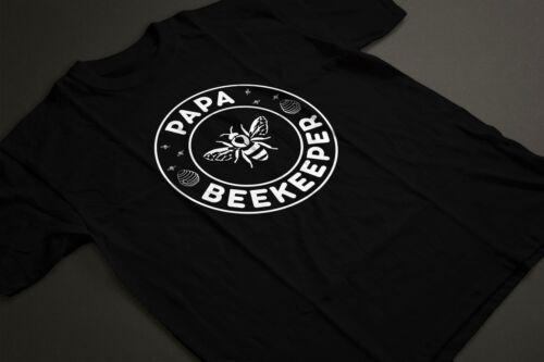 Papa Beekeeper Bee Whisperer Retro Style Beekeeping Dad Father T-shirt Tshirt