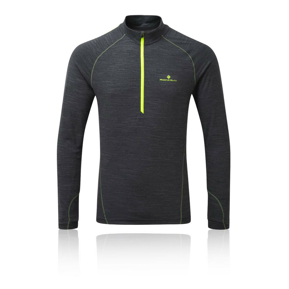 2356f7a8d1 Ronhill Uomo Stride Thermal 1/2 Zip Corsa Fitness Palestra T Tee ...