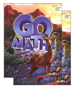 Details about Grade 6 Go Math StA Student Edition Set 2016 Volumes 1 & 2  6th Standards Not CC