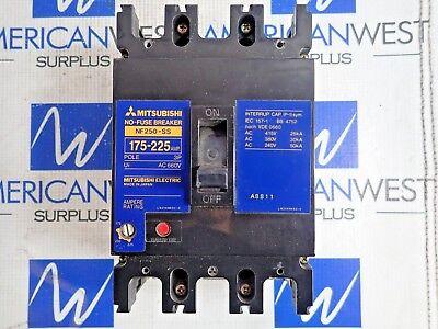 mitsubishi NF250-SS no fuse breaker 175-225 amp