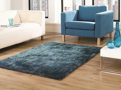 SALE ON Grande Vista Teal Blue Mix Shaggy Rug in various sizes and runner