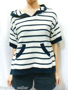 f987cf7a084c NWT Juicy Couture Fashion Women s Cashmere Stripe Hoodie Sweater Top ...