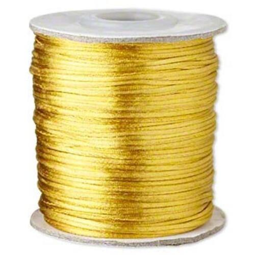 1mm Satinique satin cord choose color and length 10 feet 200 feet