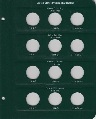 Free Slipcase Intercept Shield Coin Album For US Presidential Dollars w//Proofs