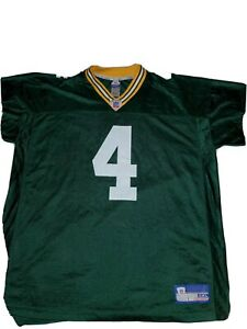 Reebok-Green-Bay-Packers-Brett-Favre-4-NFL-Football-Jersey-Men-039-s-SZ-2XL