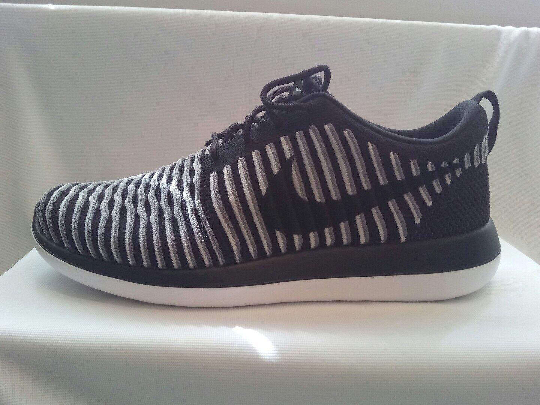 Nike Roshe Para Mujer FLYKNIT CORRER dos/Gimnasio Entrenadores Size () Negro