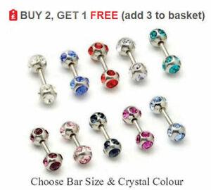 10 Packs Lip Tongue Nose Ring Stud Nipple Body Piercing Barbells Ball Bars Helix