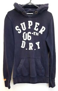 SUPERDRY-Mens-Hoodie-Jumper-XS-Navy-Blue