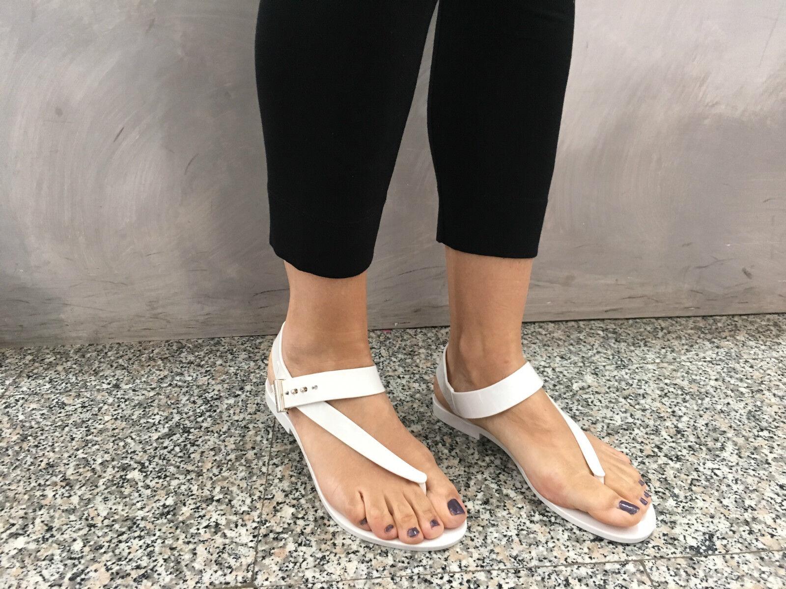 Melissa+JASON WU Sandalee Frauen Creme 100% caucciù hergestellt in Brasilien mod