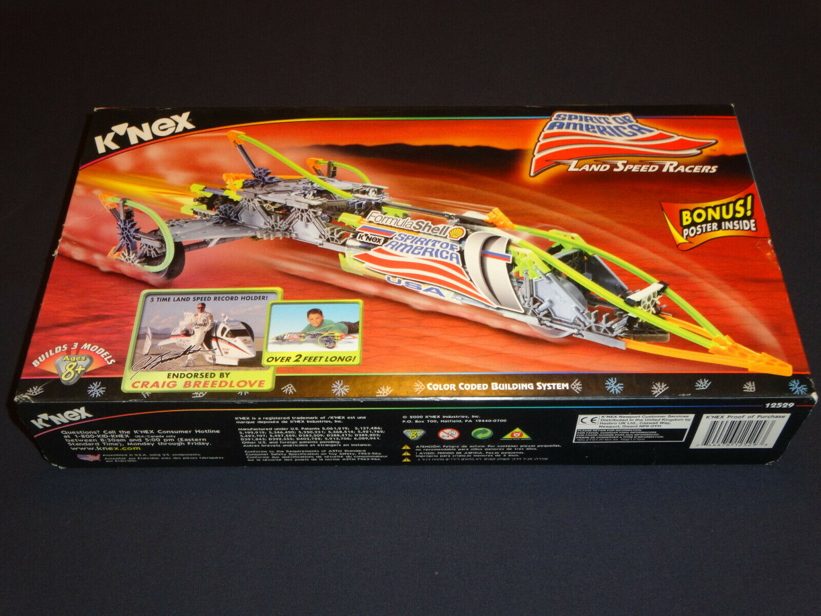 K'NEX 12529 Spirit of America Land Land Land Speed Racers Set - BRAND NEW + SEALED  RARE  062d62