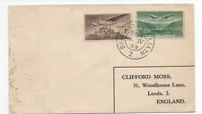 1949 Cover from Ireland with two Airmail Stamps including One Shilling Green