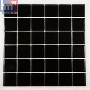 Détails sur Pâte de Verre Noir Plaque Carreaux Mosaique F.Piscine Bain  Cuisine 29 5x29 5x0