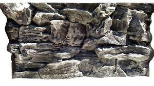 3D-Grey-Rock-Aquarium-Background-Size-77x42cm-Can-Fit-Fluval-Roma-125