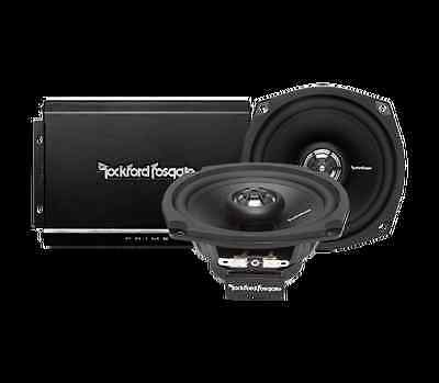 ROCKFORD FOSGATE PRIME 140 WATT 2-CHANNEL MOTORCYCLE SYSTEM FOR HARLEY 1998-2013