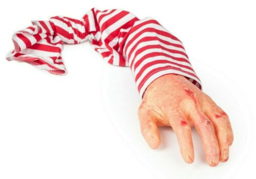 Halloween Realistic Fake Hand w// Sleeve Pranking Toy Novelty Birthday Party Gift