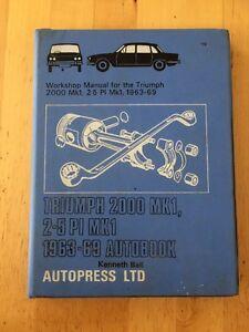 Workshop-Manual-For-Triumph-2000-Mk1-2-5-Pl-Mk1-1963-69