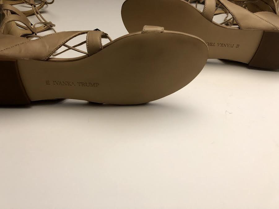 Ivanka Trump NEW Camila Knee High Lace Up Gladiator &10M Sandals, Beige Sz 6M &10M Gladiator ae1506