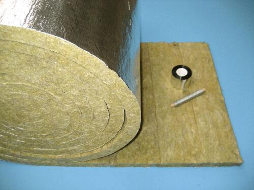 8,0 m//30mm Rauchrohrisolierung Set Matte Isolierung Kaminrohr aluk Steinwolle